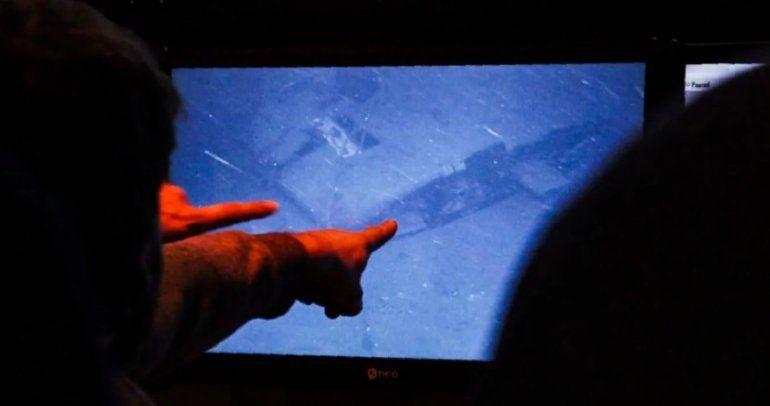 Familiares ven por primera vez las imágenes del submarino