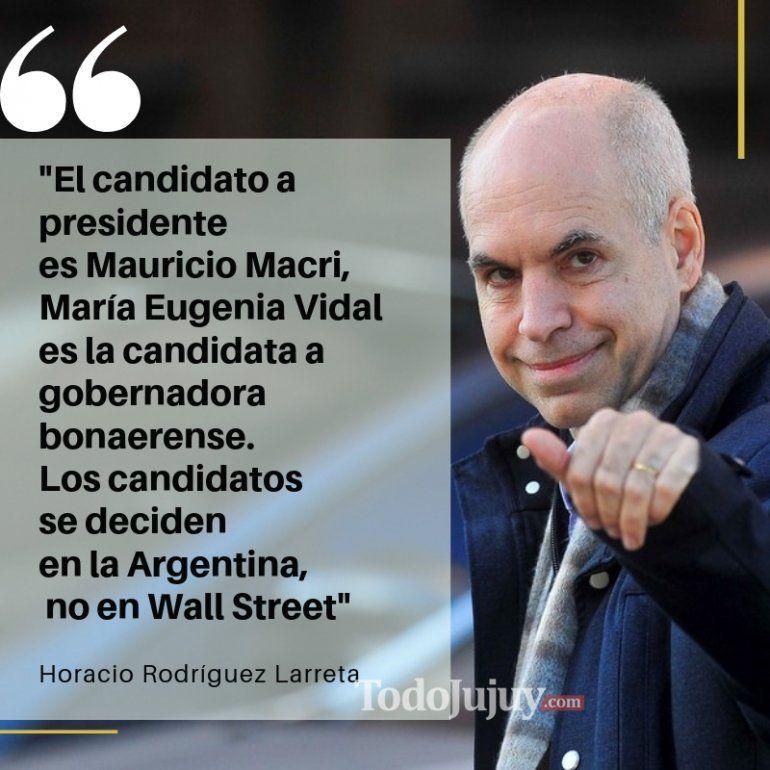 Horacio Rodríguez Larreta ratificó la candidatura presidencial de Mauricio Macri