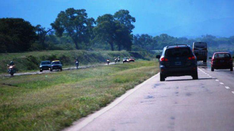Un automovilista herido tras chocar en la ruta 66 cerca de Perico