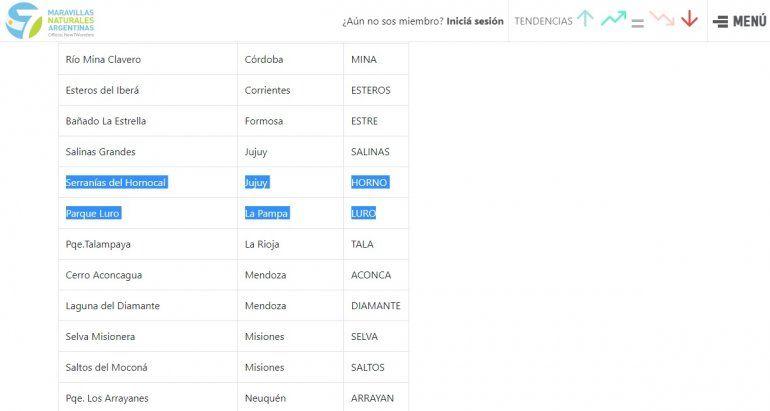 Etapa final para votar en las 7 Maravillas de Argentina a Jujuy