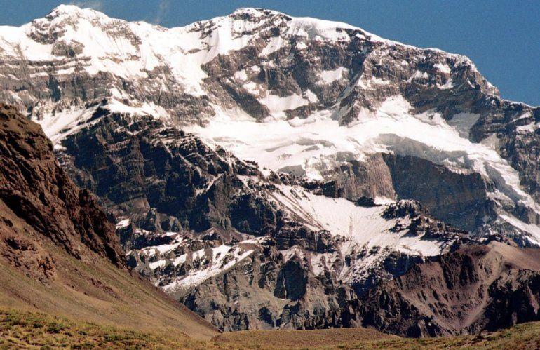 La pared sur del cerro Aconcagua