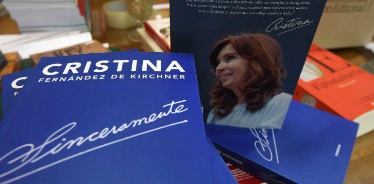 Cristina Fernández de Kirchner presentará Sinceramente mañana en la Feria del Libro