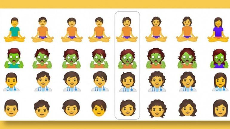 Google presentó 53 nuevos emojis sin género
