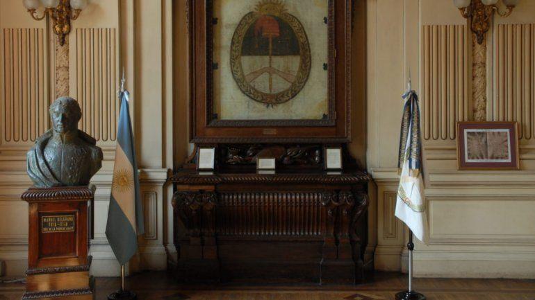 Desde hoy el Salón de la Bandera permanecerá cerrado al público