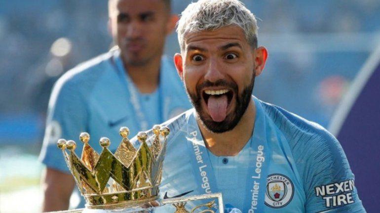Kun Aguero -Manchester Cityrevalidó su título de campeón de laPremier League