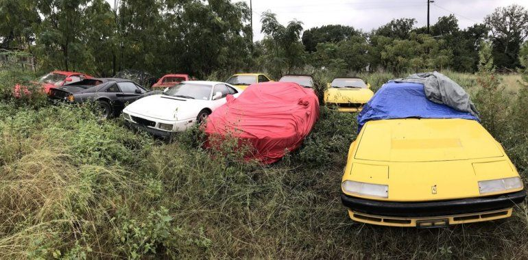 Hallazgo sin antecedentes: encuentran un campo repleto de Ferrari clásicas abandonadas