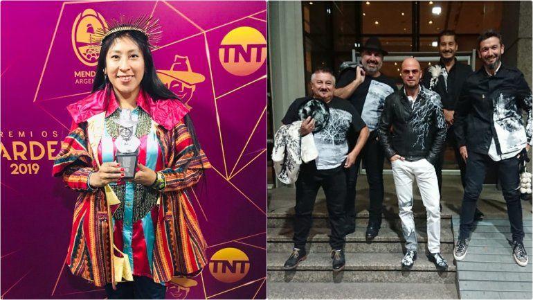 Los Tekis y Micaela Chauque fueron protagonistas de los Premios Gardel