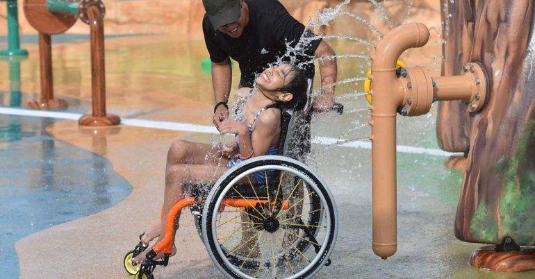 Crearon un parque temático diseñado especialmente para personas con discapacidad
