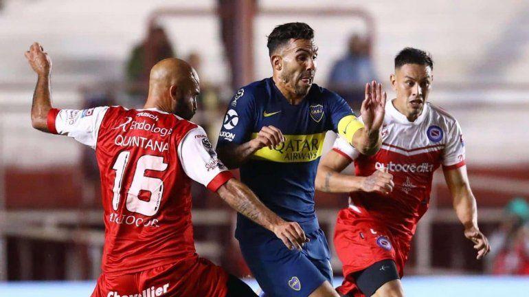 Argentinos y Boca empataron por la semifinal de la Copa de la Superliga
