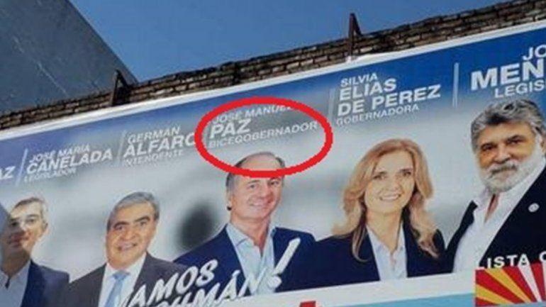 Un tremendo error de ortografía en un afiche electoral, se hizo viral en Tucumán