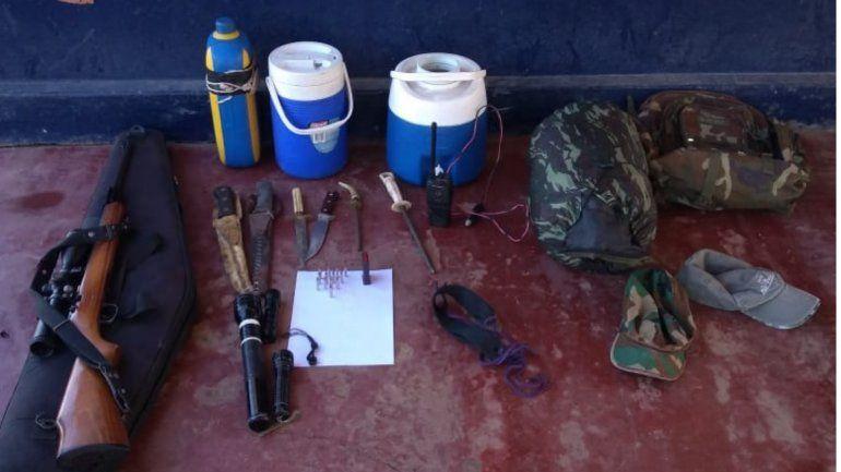 Secuestran un rifle, municiones y otros elementos relacionados a la caza furtiva