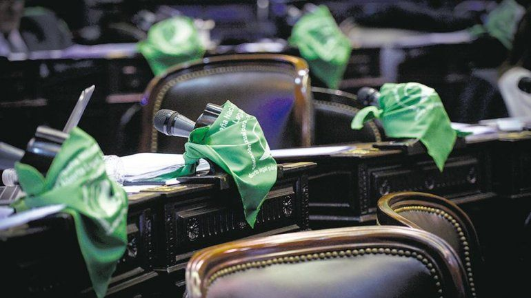 Marea verde en el Congreso