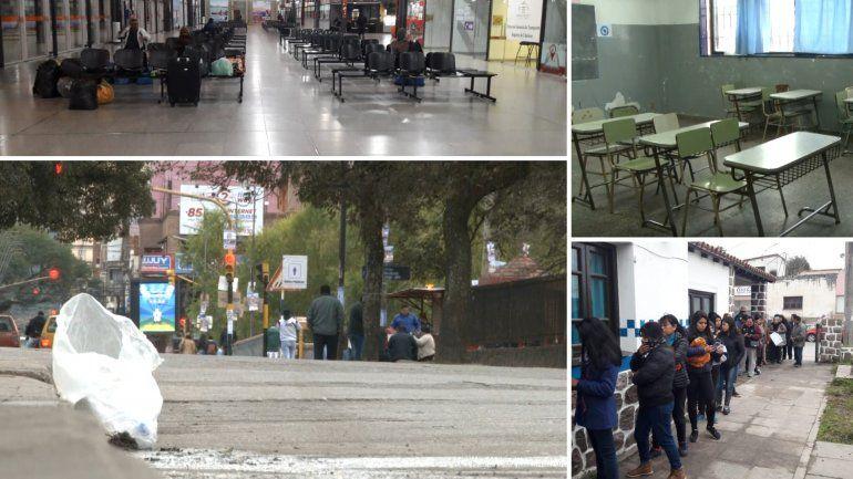 Jornada complicada en Jujuy: las postales del paro general