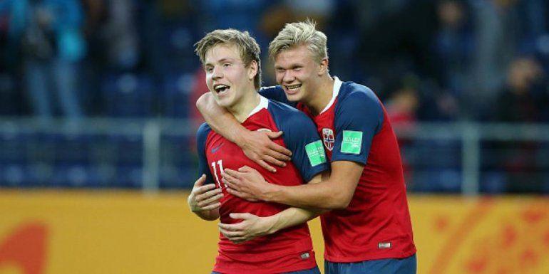 El pibe maravilla: el noruego Haland anotó 9 goles y marcó un récord