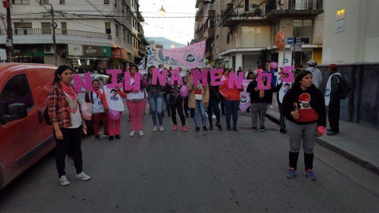 Las mujeres jujeñas también marcharon en contra de la violencia de género