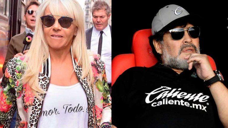 Claudia Villafañe contrademanda a Diego Maradona en Estados Unidos