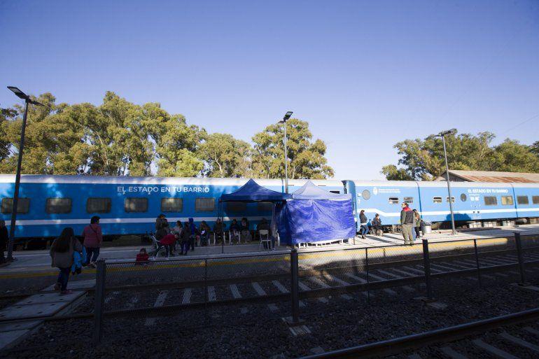 El tren de El Estado en tu Barrio llegó a Libertador