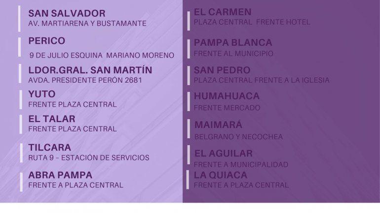 Elecciones 2019: comenzó a funcionar el transporte gratuito para Quebrada y Puna