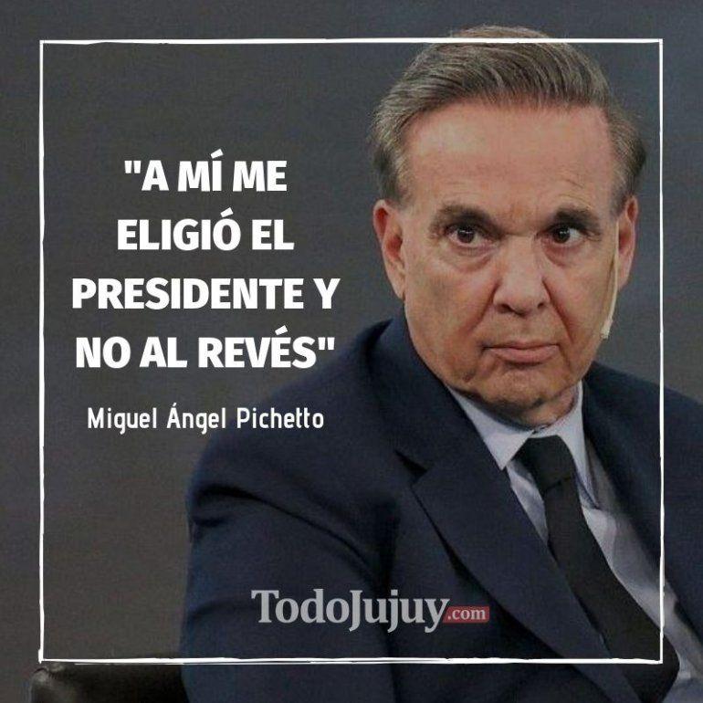 Miguel Ángel Pichetto durísimo con Cristina: A mí me eligió el presidente y no al revés