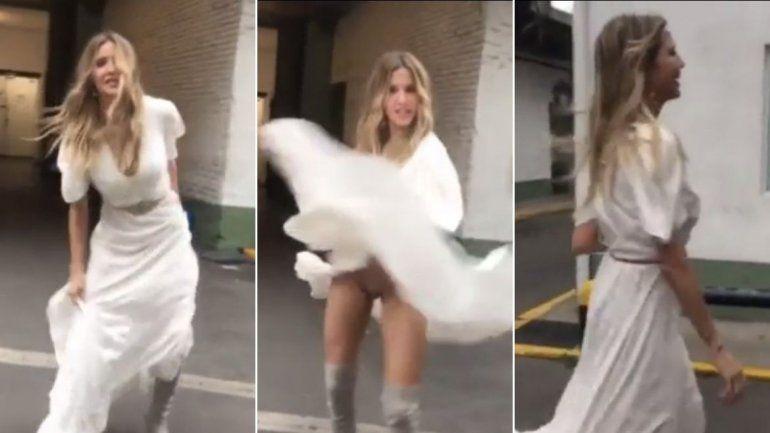 Guillermina Valdés quiso mostrar su vestido y por accidente ¡se le vio todo!