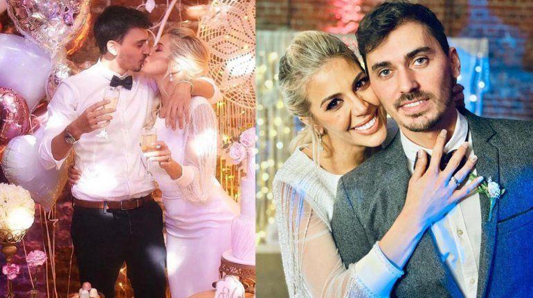 Una famosa agarró el ramo en el casamiento de Virginia Gallardo y su novio puso una cara fatal