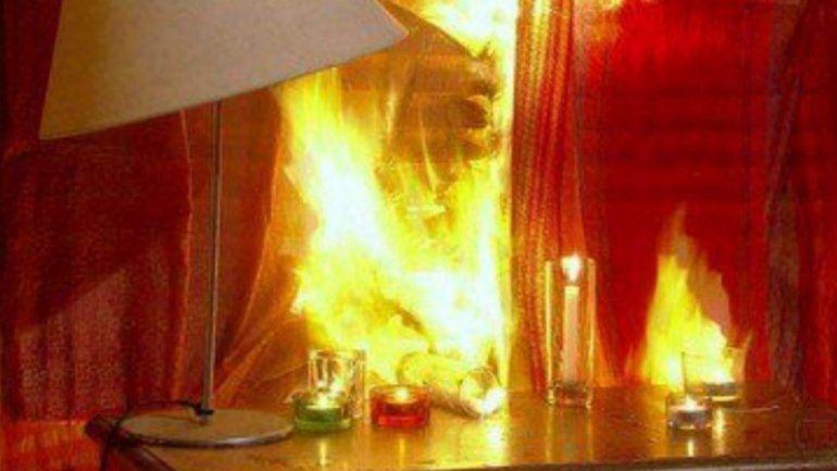 Los Perales: una mujer de 85 años dejó una vela prendida y generó un incendio