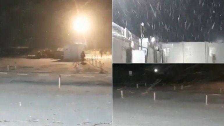 Nieve en Cauchari: el invierno vistió de blanco la localidad puneña