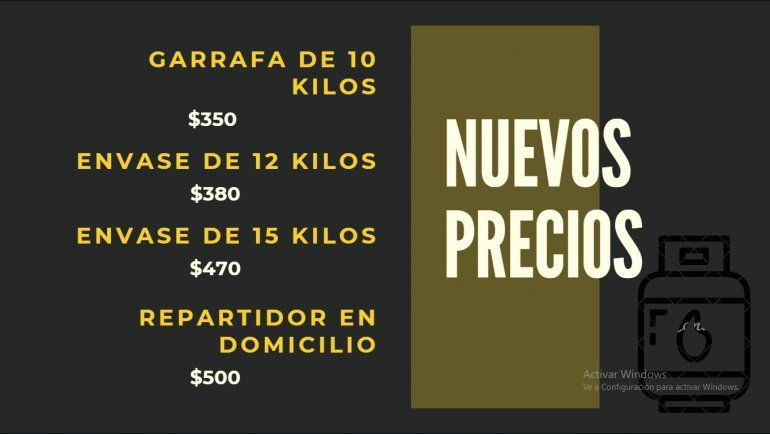Cuarto aumento del año: desde hoy la garrafa de gas de 10 kilos cuesta  $350