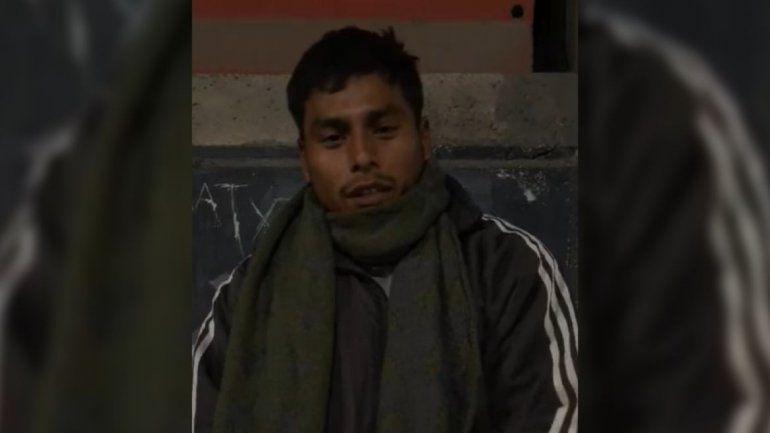 Jujeño varado en Mendoza: está en situación de calle, perdió su DNI y pide ayuda para regresar