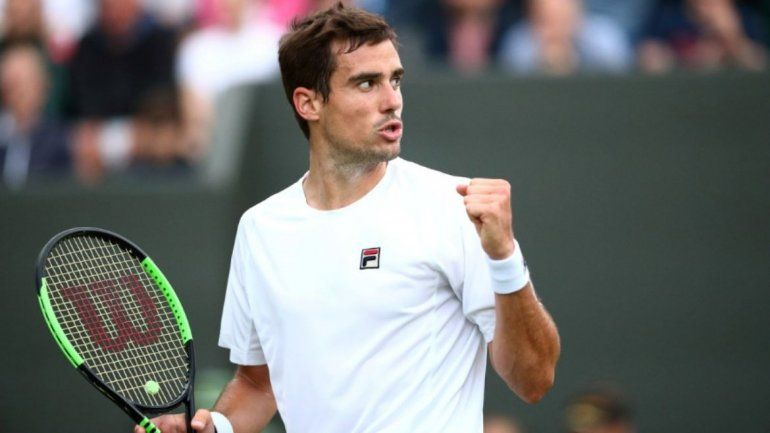Guido Pella la rompió y pasó a cuartos de final: estalló Wimbledon