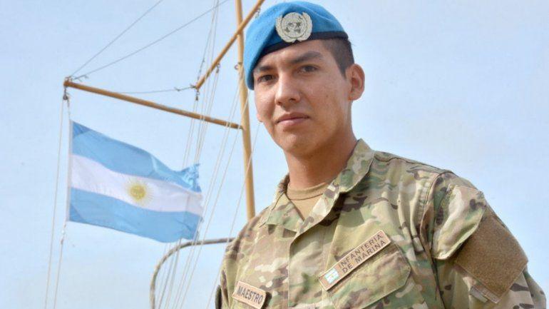 Un marino jujeño se destaca en las misiones de paz de la Armada Argentina