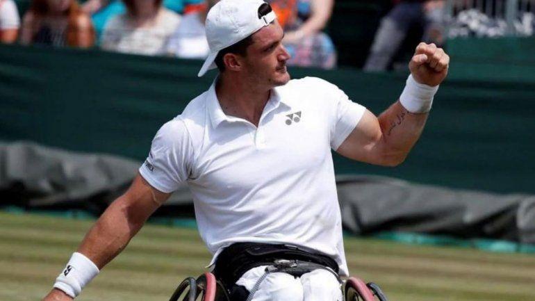 Gustavo Fernández conquistó Wilmbledon por primera vez y hace historia en el tenis adaptado