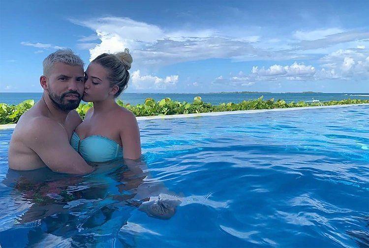 Las vacaciones del Kun Agüero con su hijo Benjamín y su nueva novia