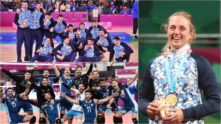 Domingo de oro: Argentina en los más alto del podio en vóley, básquet y tenis