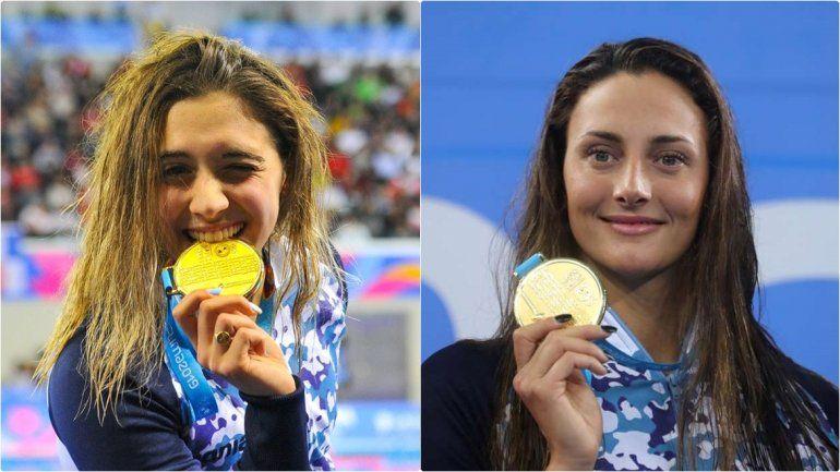 Natación de Oro: las argentinas Pignatiello y Bardach se subieron a lo más alto del podio