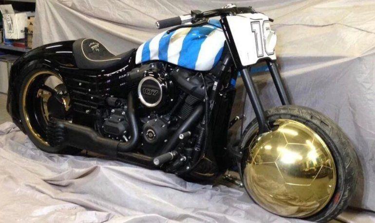 La moto de Maradona