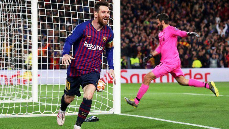 Este golazo de Messi fue elegido como el mejor de la última Champions League