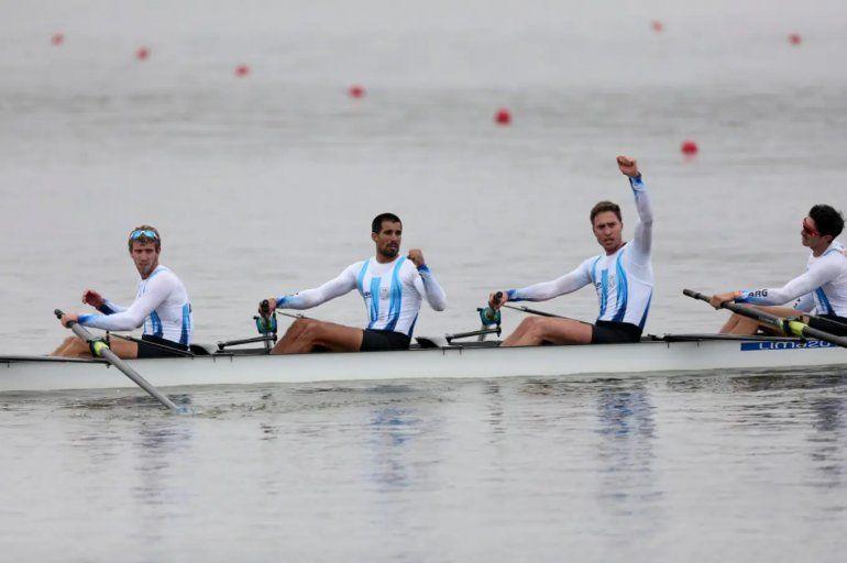 El equipo masculino de ocho remos logró la 23ra medalla dorada para Argentina