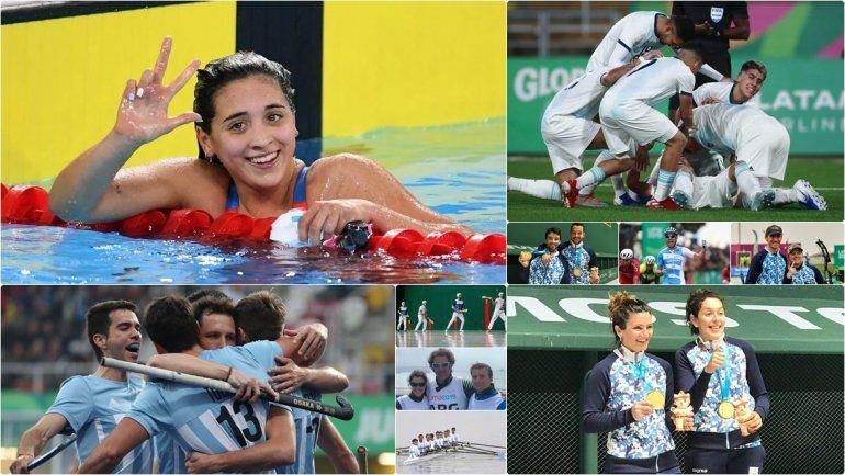¡Sábado histórico en los Panamericanos! Argentina sumó 10 medallas de oro en un día