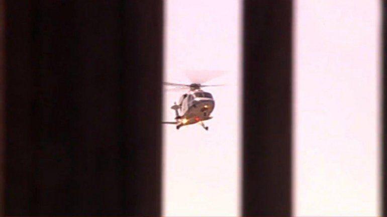 Mauricio Macri llegó a la Casa Rosada en helicóptero