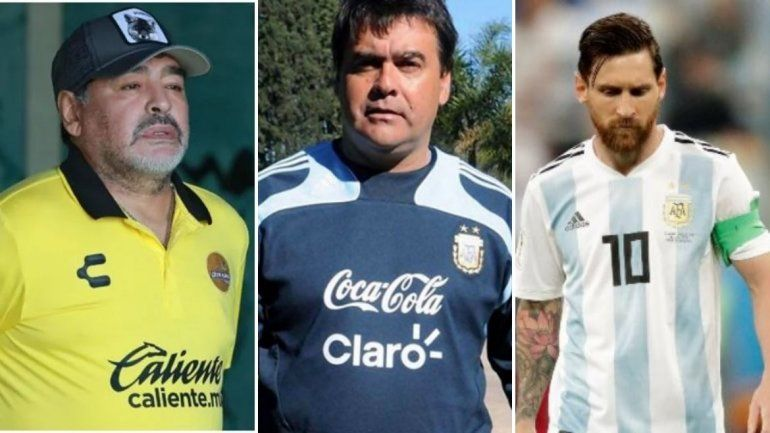 La emotiva despedida de Maradona y Messi para el inolvidable Tata Brown
