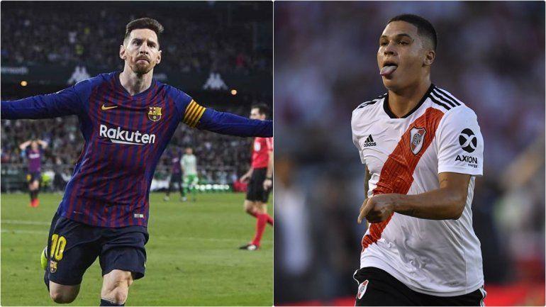 Los goles de Messi y Juanfer Quinteros quedaron entre los 3 mejores del mundo