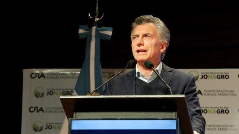 El presidente Macri instó a los argentinos a tener el empuje del campo
