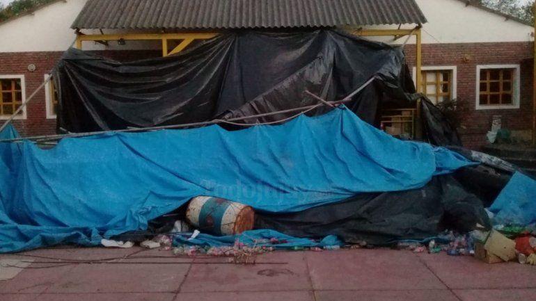 El viento norte provocó daños en el canchón del Bachi 24