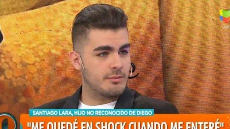Apareció otro supuesto hijo de Diego Maradona: Santiago Lara