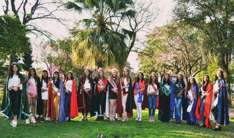 Presentaron las candidatas a reina departamental de San Pedro