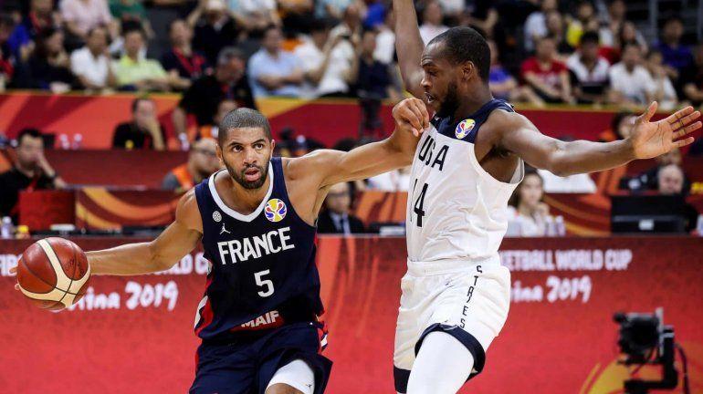 Francia eliminó a Estados Unidos y será rival de la Argentina en el Mundial de Básquet