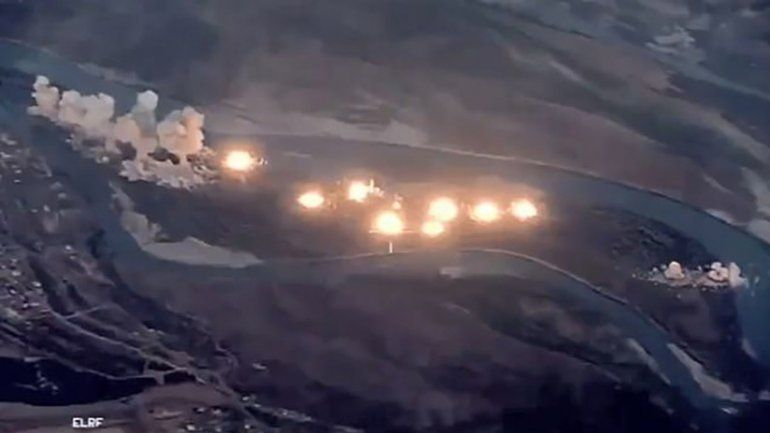 Feroz ataque de EE.UU. a una isla iraquí: lanzó 36 toneladas de explosivos