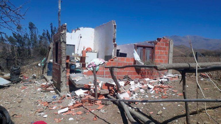 Bolivia: el viento destruyó una humilde casa cerca de la frontera con Jujuy