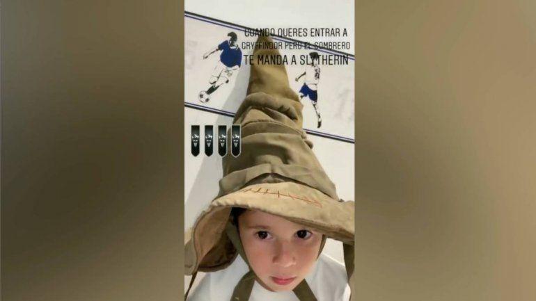 Mateo Messi marcó tendencia en redes a partir de una publicación de su mamá